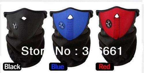 facemask,3pcs Winter Sports Neck Warmer Face warming Mask head scarf (red/black/blue)(China (Mainland))