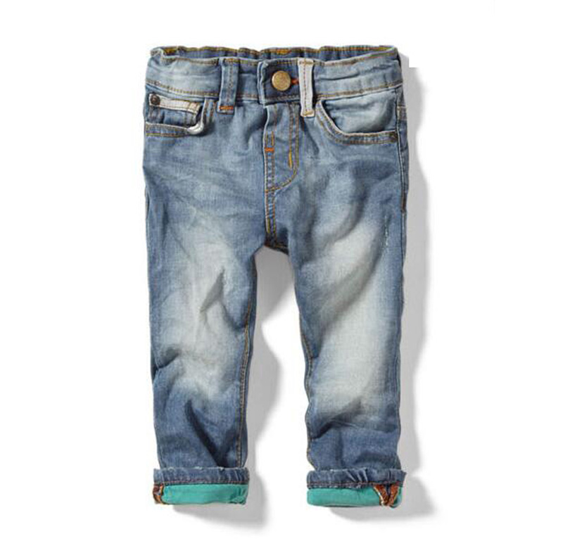 Spring and Autumn Boy paragraph Jeans 2016 Boys and Girls Casual Long Pants Jeans Kids clothes pantalona vetement enfant(China (Mainland))