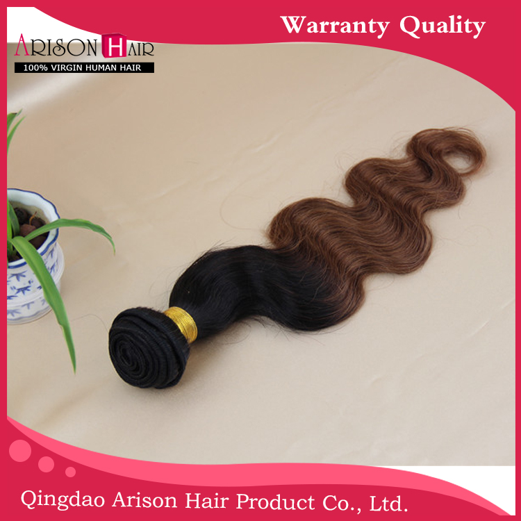 Unprocessed Peruvian Virgin Human Hair Weaves Ombre Hair Extensions Straight Two Tone 1b/30 1pc lot qingdao hair products<br><br>Aliexpress