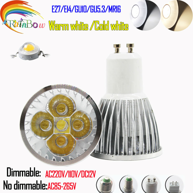 LED LIGHT 5W E14 E27 GU10 MR16 LED Bulbs Light 85-265V 110V 220V 12V Dimmable Led Spotlights warm cool white for home fixture(China (Mainland))