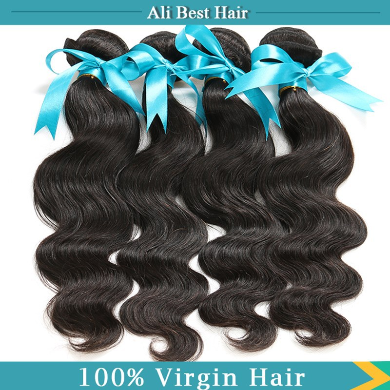 Peerless Hair Products Top Quality Human Virgin Hair 4Pcs/Lot Malaysian Body Wave Hair Bundles Natural Black King Soft& Full(China (Mainland))