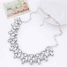 2016 New Arrival Hot Fashion Jewelry Chunky Bohemian Statement Necklace crystal Maxi Necklaces & Pendants Jewelry accessories