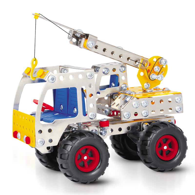 249pcs DIY metal TRUCK,construction vehicles model building blocks assembling toys car block erector toy(China (Mainland))