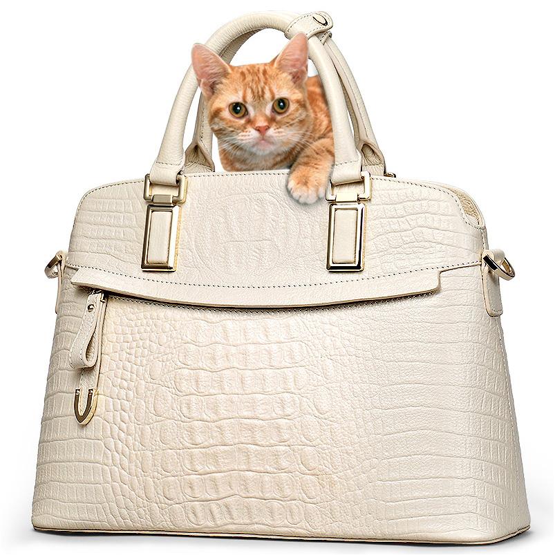 Classic Croc Women Bag Big Brand Luxury 2016 Women Messenger Handbags 100% Genuine Leather Elegant Female Bag 52ZD(China (Mainland))