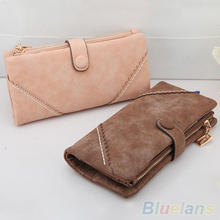 Women's Zipper Bifold Faux Leather Case Long Purse Evening Bag Snap Button Wallet Clutch 1QDA 4OQA - To You Store store