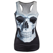 Fashion 21 Colors Women Girl Vest Tank Tops Print Blouses Gothic Punk Rock Party Clubwear T Shirts 2016 New T4(China (Mainland))