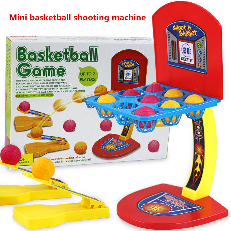 Colored marbles basketball toys, board games, hands-on games, plastic mini basketball machine(China (Mainland))