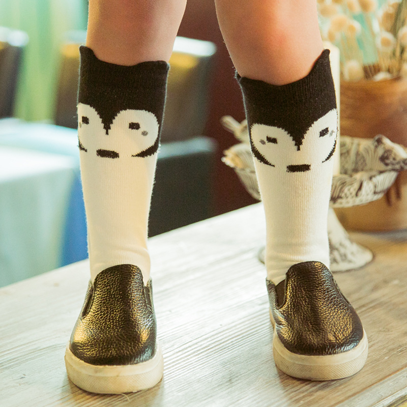 1Pair/lot Lovely 3D Raccoon  Baby Leg Warmers Bear Non-slip Cotton Socks For Kids Boys Girls Children Animal Meias Calentadores