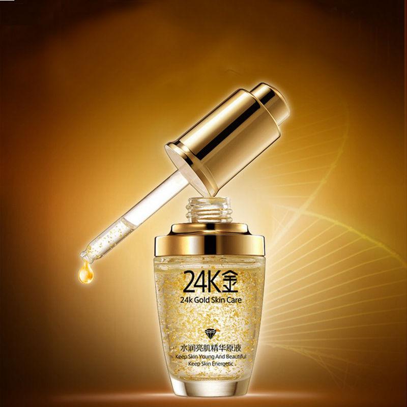 Anti Wrinkle Face Anti Aging Collagen Pure 24K Gold Essence Skin Care Day Cream Whitening Moisturizing Hyaluronic Acid Liquid<br><br>Aliexpress