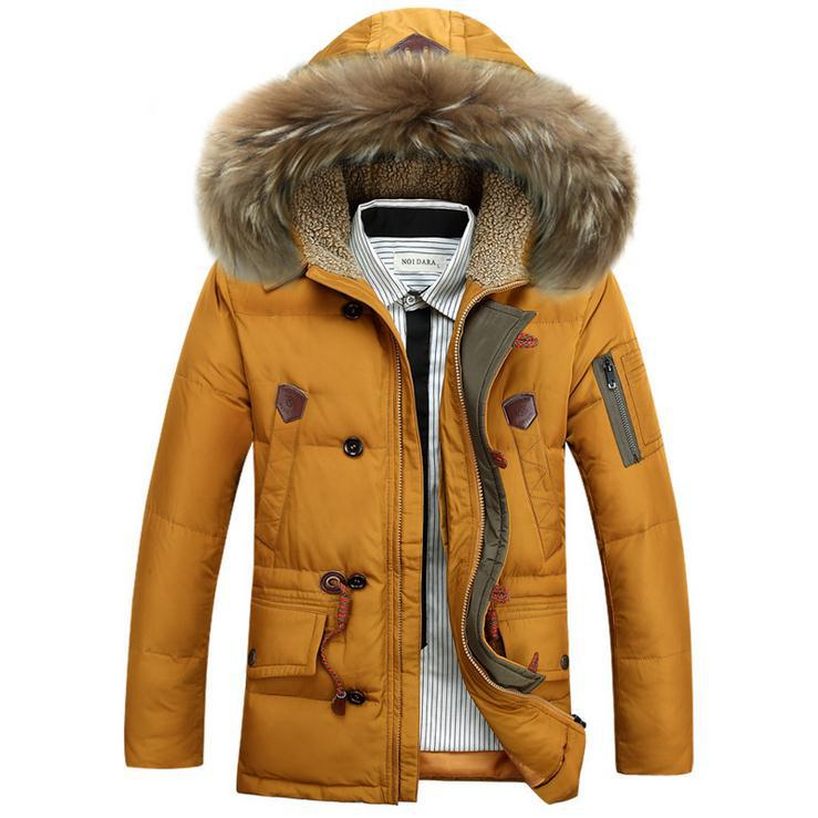 2015 new jacket winter men thickening of long down jacket for mens winter parka with fur hood outerwear coat mens down jacketОдежда и ак�е��уары<br><br><br>Aliexpress