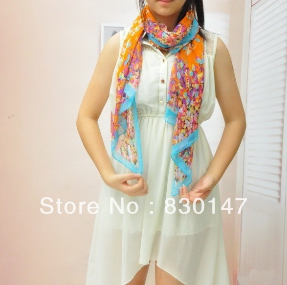 Free Shipping!!! 2013 Wholesale Handmade And Factory Directly Sale Print Fashion Pashmina Spring Scarf Brand For Women