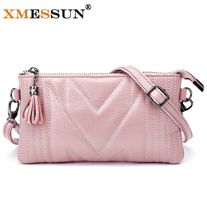 Sheepskin Women Messenger Bags Small Genuine Leather Women's Shoulder Bag Little bag Ladies Tassel Crossbody Bag Clutches L230(China (Mainland))