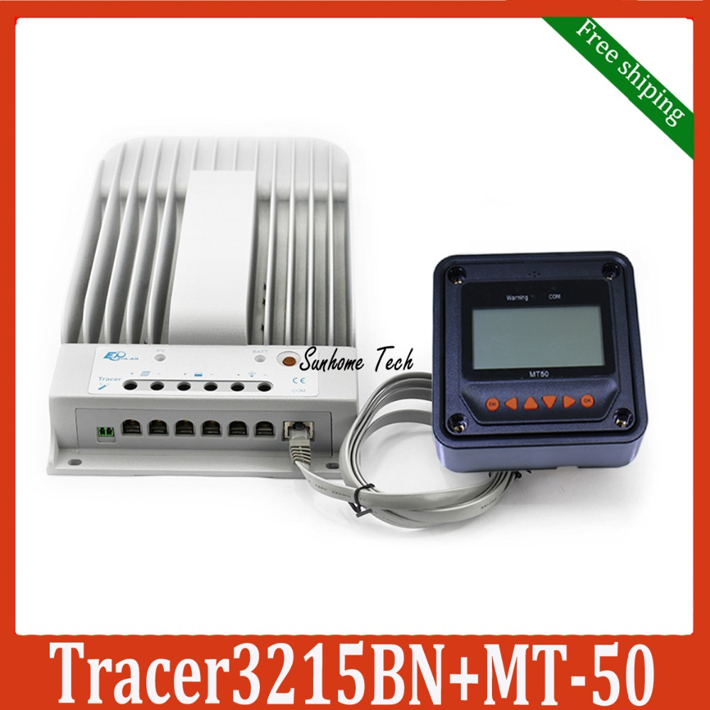 New Tracer 3215BN MPPT Solar Charge Controller with MT50 LCD display Remote meter 30A 12V 24V(China (Mainland))