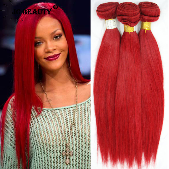 Red Remy Hair Weave 89