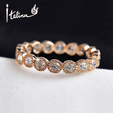 Italina Zircon Crystals Wedding Rings for women 18K Gold Plated Made with Austria Crystals Anillos Anel Joias ouro high quality(China (Mainland))
