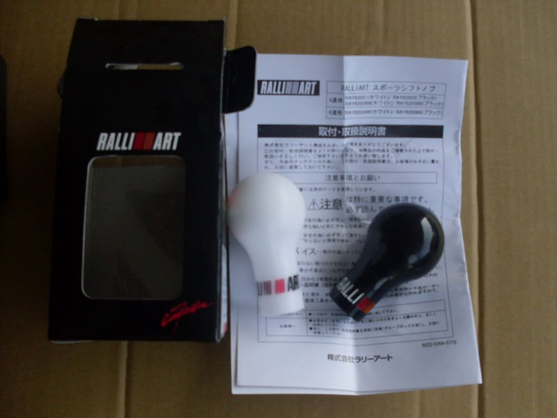 Ralli///art Racing Gear Knob, Universal Use Shifting Color: White Black - Car power Online Store 722192 store