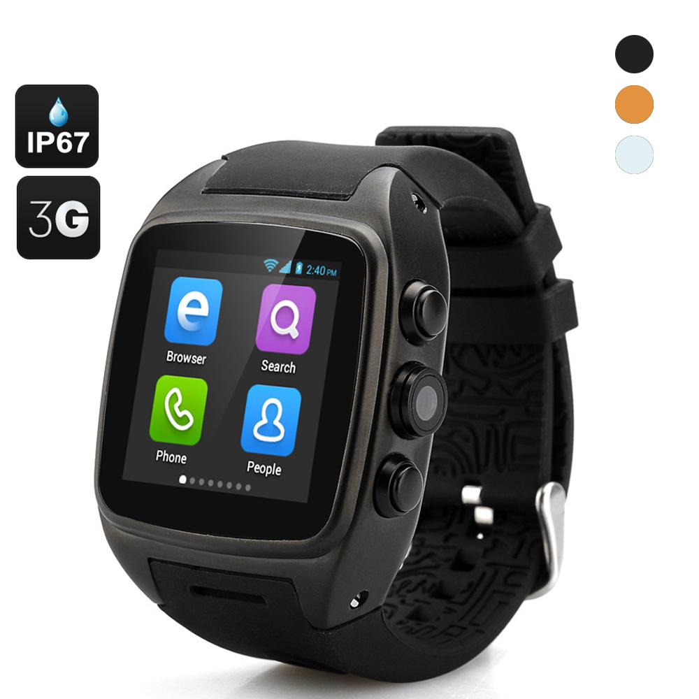 iMacwear M7 Smart Watch IP67 Waterproof 1.54 Inch Touch Screen Android 4.4 OS Dual Core CPU 3G GPS Wifi Watch Phone(China (Mainland))