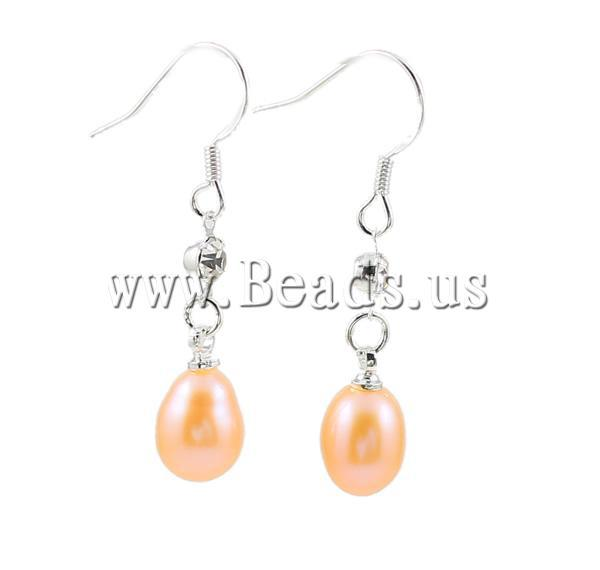 Free Shipping,Freshwater Pearl Drop Earrings, brass hooks with rhinestone, mixed color, box packed,  36Pairs/Box, Sold by Box<br><br>Aliexpress