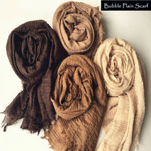Hot sale bubble plain scarf/scarves fringes women soft solid hijabs popular muffler shawls big pashmina muslim wrap new designs(China (Mainland))