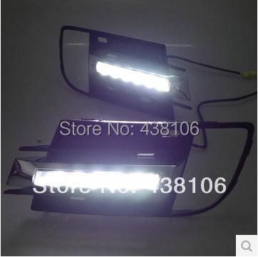 HOT 2013 Volkswagen Tiguan daytime Running Light Fog light High Quality LED DRL LED car fog lamp 12V 2pcs<br><br>Aliexpress