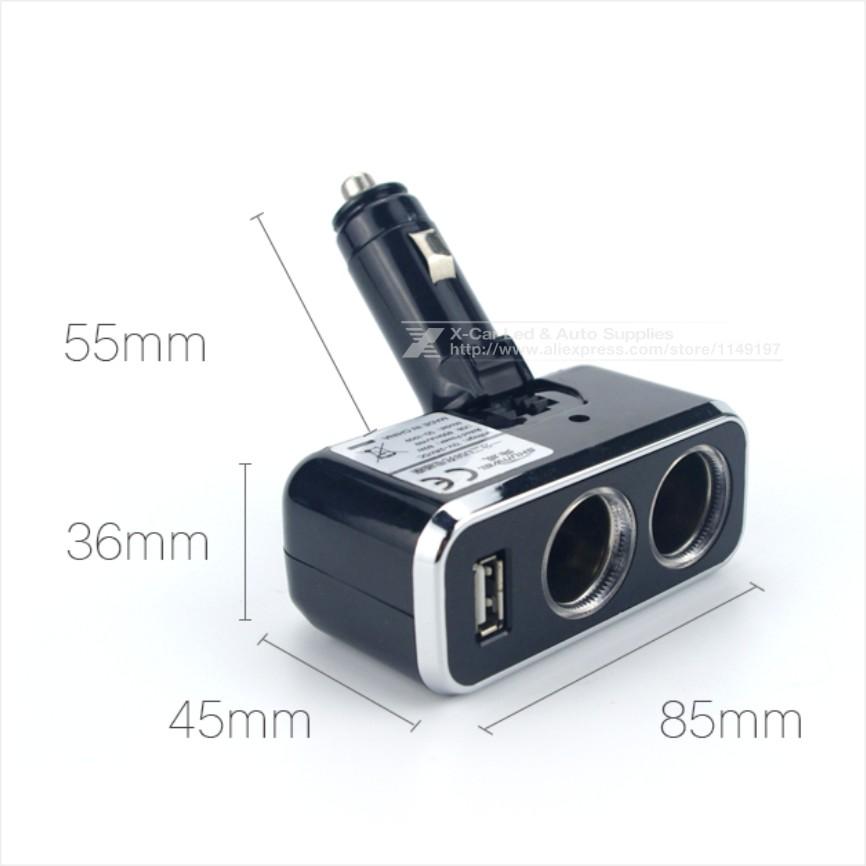 Aliexpress Buy Triple 1 to 2 Socket USB Power