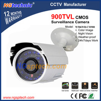 Free shipping! 900TVL CMOS cameras of security 24 pcs blue LED IR night vision outdoor waterproof Color image Mini CCTV Camera