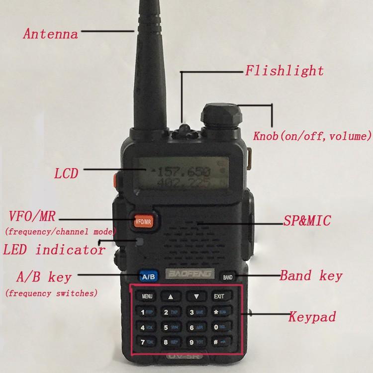 New Waterproof Pofung Baofeng UV-5RA For Police Walkie Talkies Scanner Radio Vhf Uhf Dual Band Cb Ham Radio Transceiver 136-174 (17)