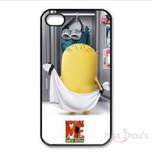 For iphone 4/4s 5/5s 5c SE 6/6s 7 plus ipod touch 4/5/6 back skins mobile cellphone cases cover Naked minion