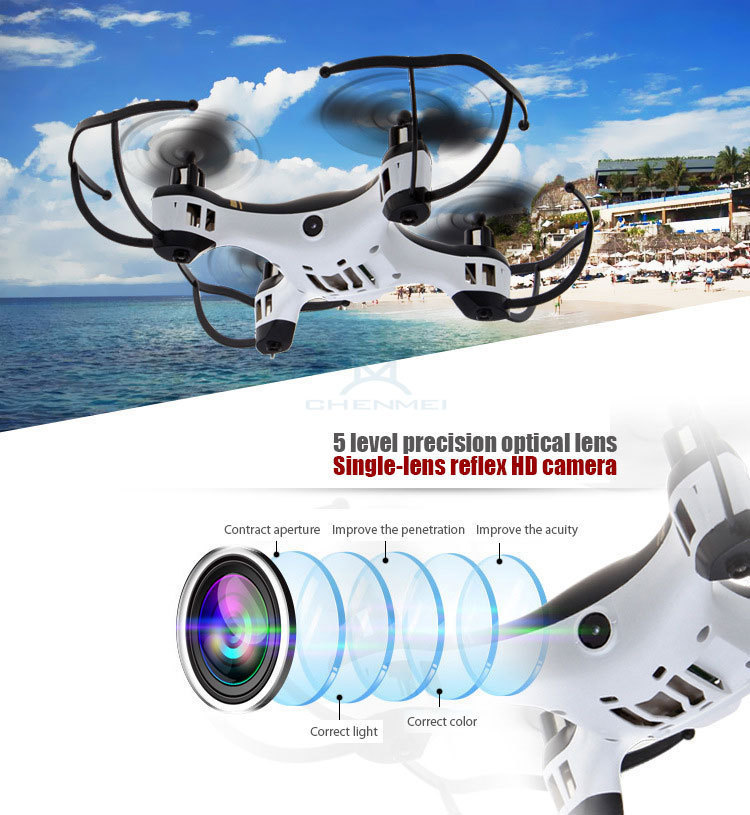 2 4Ghz RC Quadcopter Remote Control Helicopter Drone With 2 0MP Camera HD Headless Mode