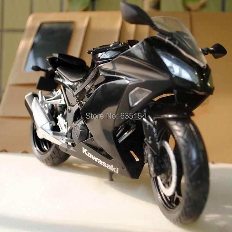 Wholesale 5pcs/lot 2015 Newest 1/12 Scale Diecast Motorcycle Model Toys Kawasaki Ninja 250 Black Cool Metal Motorbike Model Toy(China (Mainland))