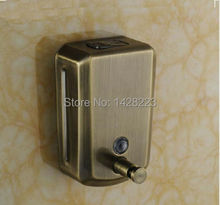 Wholesale and Retail Wall Mounted Bathroom Vessel Liquid Antique Bronze Soap Dispenser 500ml(China (Mainland))