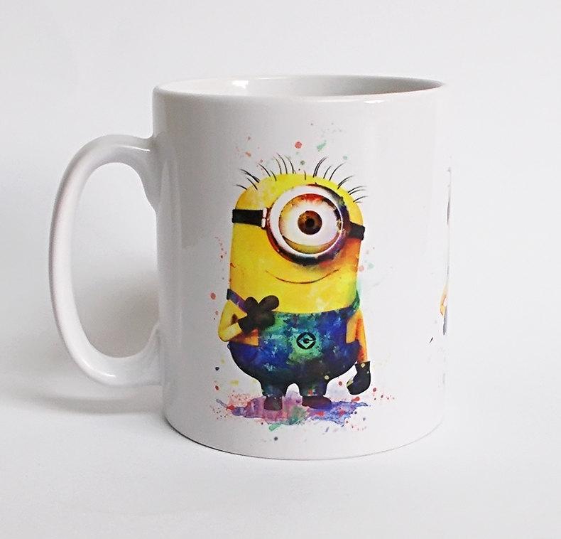 despicable me minions magic coffee mugs gifts Black color changing colour change Heat sensitive magical Tea Cups white mug gift(China (Mainland))