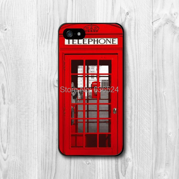 New London Phone Booth Interesting Design Case for iPhone 4 4s 5 5s 5c 6 6plus(China (Mainland))