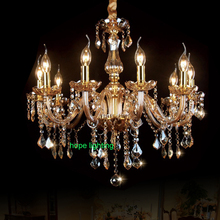 Fashion Modern Crystal Chandelier Dinning Room Lamp candelabra crystal chandeliers Candle For Home european candle chandeliers(China (Mainland))
