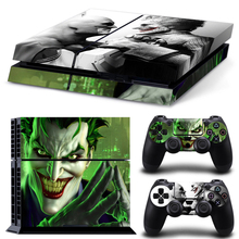 free shipping Joker and Batman Vinyl Decal PS4 Skin Sticker For Sony PlayStation 4 PS4 Console & 2 PCS Controller Cover Decals
