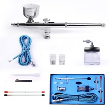 Dual Action Airbrush Kit Needle Air Brush Spray gun body painting airbrush Makeup Styling Tools Nail Art Tattoos SP134KTLWG(China (Mainland))
