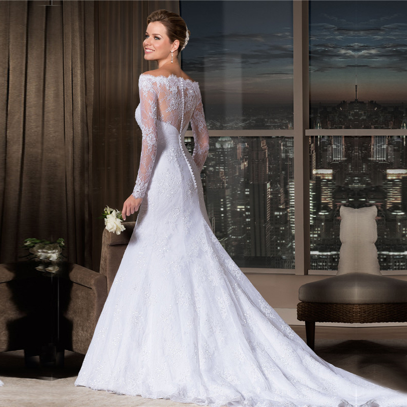 Buy dhg153 vestido de noiva vintage for Vintage mermaid style wedding dresses