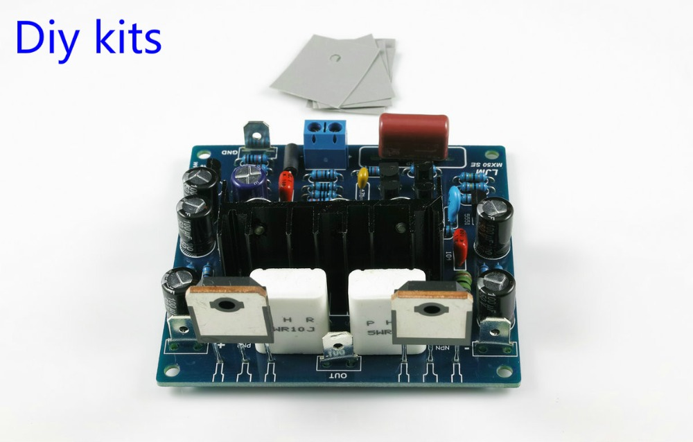 2PCS MX50 SE 100WX2 Dual Channels Audio Power amplifiers Board Diy Kits New Version(China (Mainland))