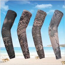 Tattoo Sleeves Outdoor Prevented Bask Cycling Arm Fishing Cuff Halloween takes outdoor prevent bask arm set of hand cuff(China (Mainland))