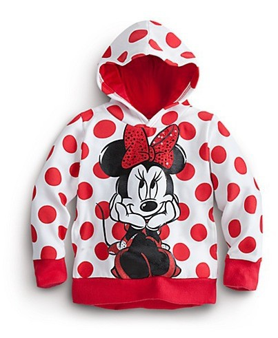 2015 childrens hooded cartoon Mickey printing hooded sweater girl's top shirts Hooded Sweater Minnie hoodie with tail(China (Mainland))