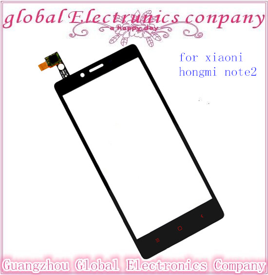 5.5inches Original For Xiaomi Redmi Note 2 Touch Screen Replacement Hongmi Note 2 Cell Phone Digitizer Front Glass Free Shipping(China (Mainland))