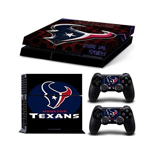 NFL 15 Teams AVAILABLE Houston Texans Vinyl Decal PS4 Skin Stickers Wrap for Sony PlayStation 4 Console and 2 Controllers Skins(China (Mainland))