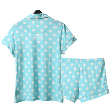 Song Riel fashion wave point Ms casual and comfortable short sleeved pajama suit tracksuit Rainbow Song