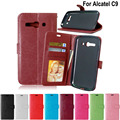 Cell Phone Case For Alcatel C9 Luxury Folio Leather Card Holder Wallet Flip Cover Stand Case