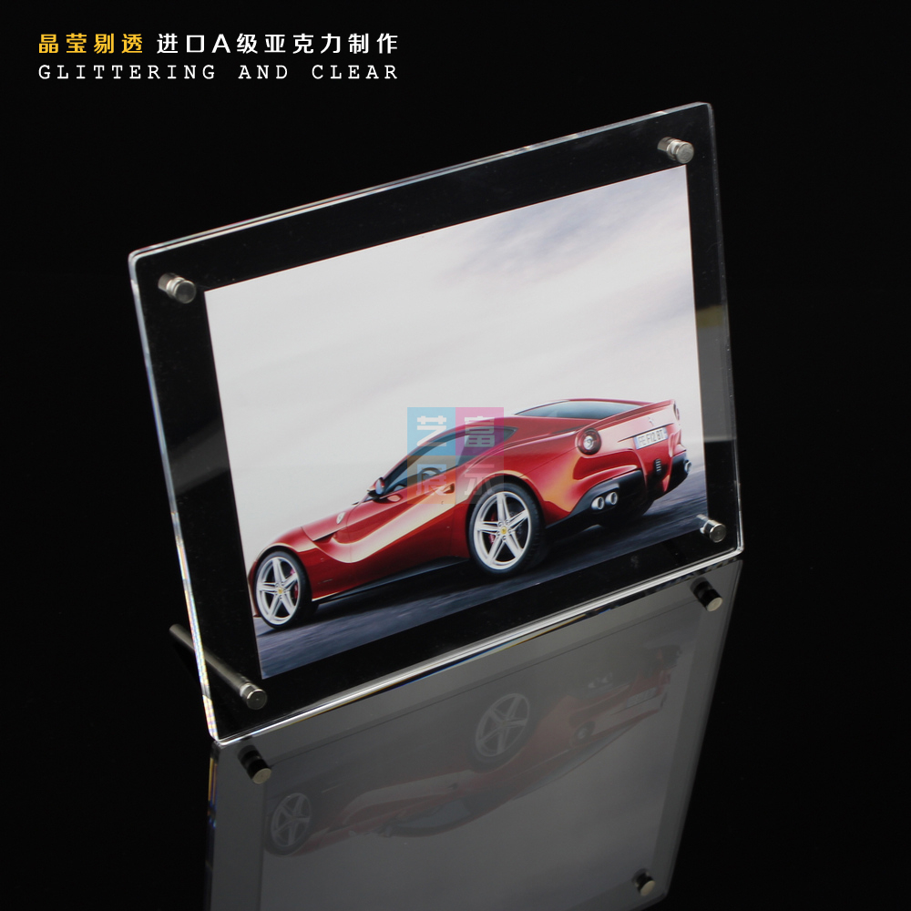 Free Shipping Clear Acrylic Photo Frame Poster Frame 8 Inch Photo Porta Retrato Picture Frame Marcos De Fotos Foto Frame(China (Mainland))