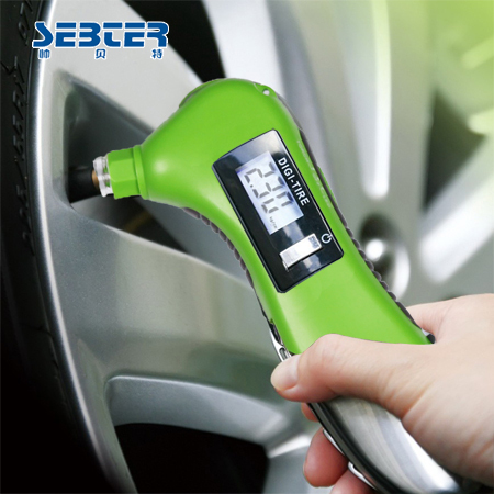 Sebter stainless steel car tire gauge car digital tire pressure table tyre pressure gauge precision(China (Mainland))