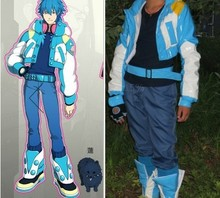 Custom Made DMMD Dramatical Murder Seragaki Aoba Cosplay Costume(Jackets+Belt+T-shirt+Gloves+Shoe Cover)