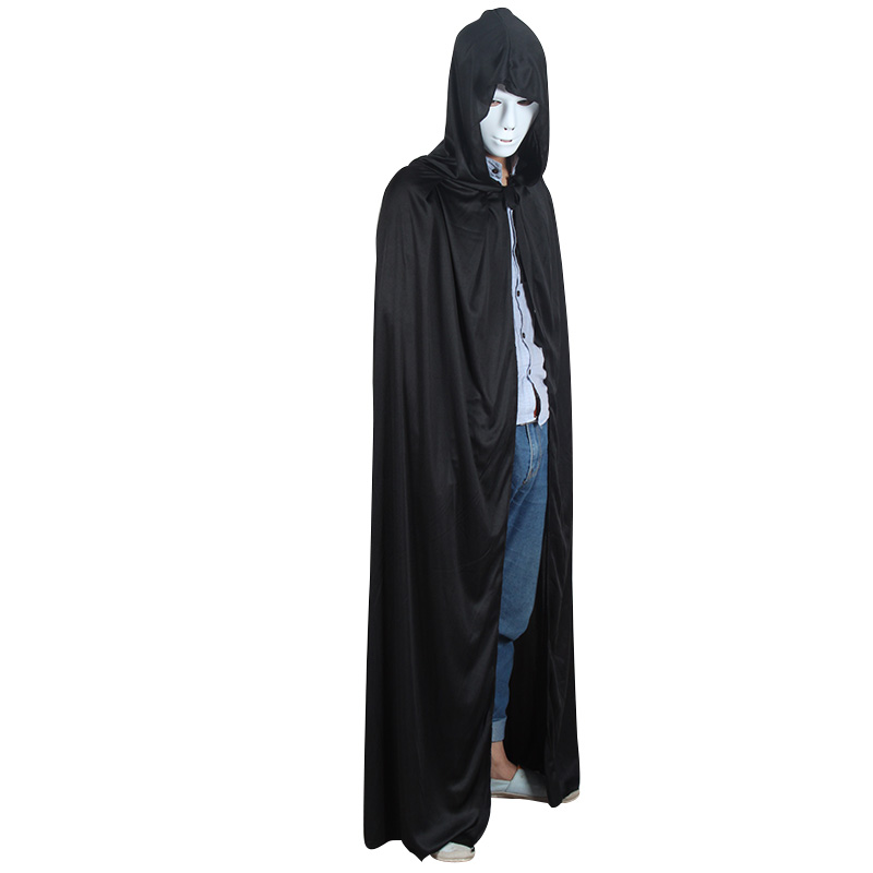 Halloween clothes dance party clothes props black cloak plus size black cloak halloween decoration(China (Mainland))