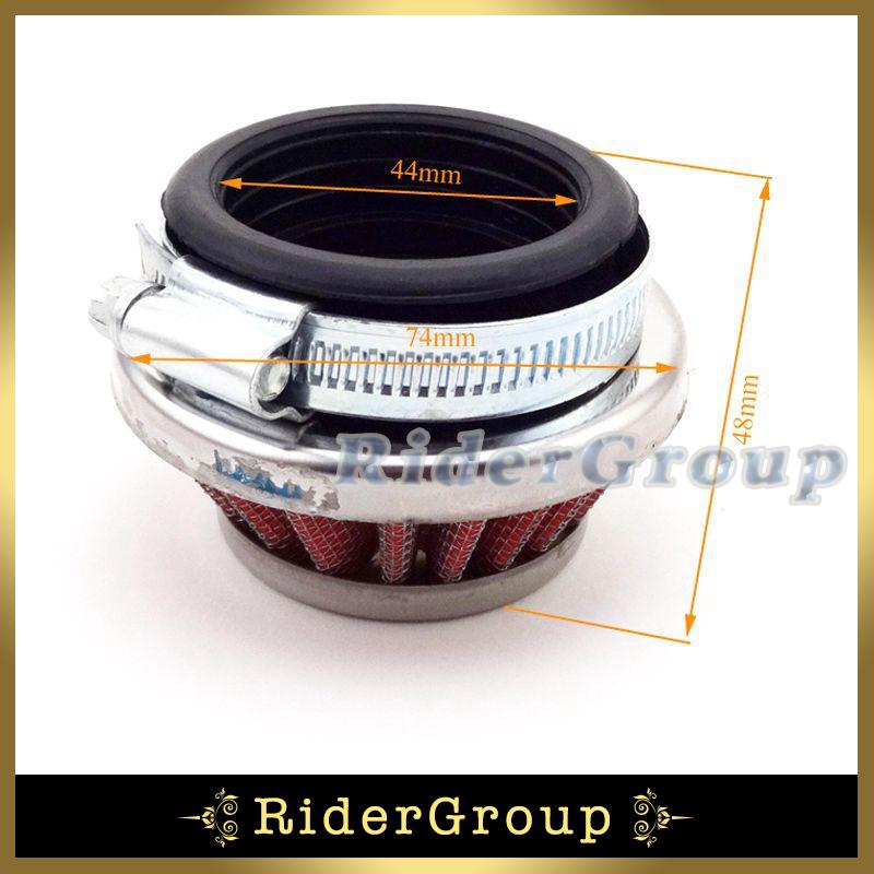Racing Air Clearner Filter 44mm For 2 Stroke 47cc 49cc 2 Stroke Mini Moto Dirt Pocket Bike Kids Quad ATV(China (Mainland))