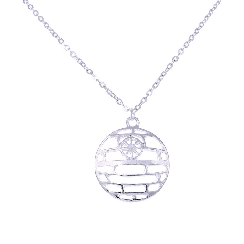 Sunshine New Star Trek Star Wars Hollow out pendant Necklace Vintage silver link Necklace Fashion movie Jewelry For Women Men(China (Mainland))